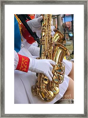 Saxophone Players Framed Print by Yali Shi