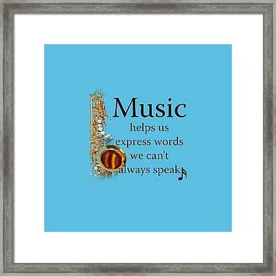 Saxophones Express Words Framed Print