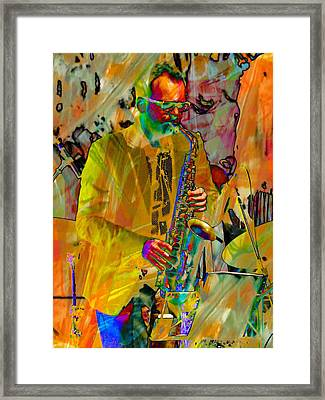 Saxophonist Framed Print by Dorothy Berry-Lound