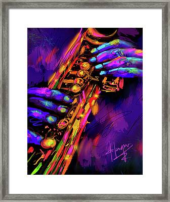 Saxy Hands Framed Print