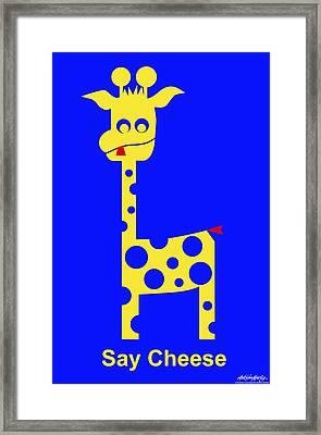 Say Cheese Framed Print by Asbjorn Lonvig