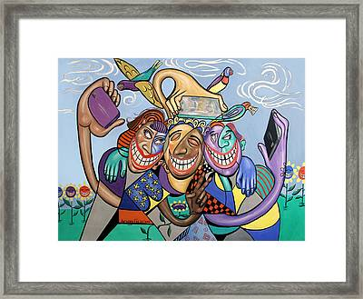 Say Cheese Selfie Framed Print by Anthony Falbo