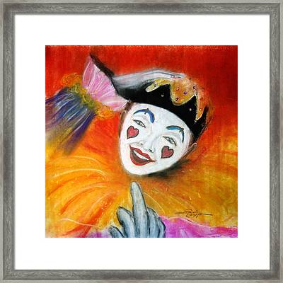 Say It With A Smile Framed Print by Leonardo Ruggieri