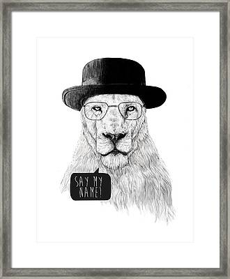 Say My Name Framed Print by Balazs Solti
