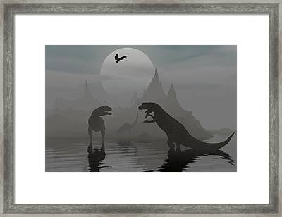 Say Something Nice Framed Print by Claude McCoy