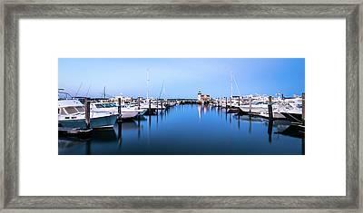 Saybrook Point Marina Framed Print by Clay Townsend