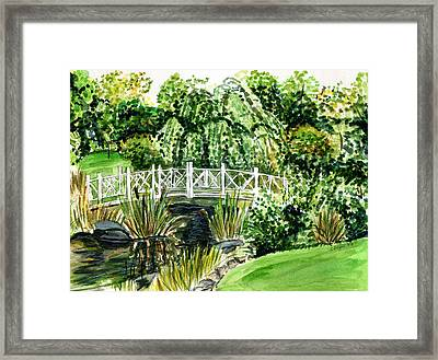 Sayen Bridge Framed Print