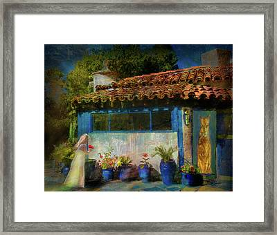 Saylor And The Cat Framed Print