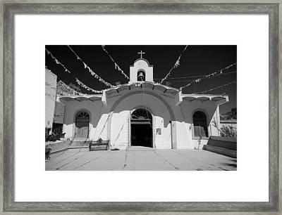 Sayulita Church Framed Print by Chuck Parsons