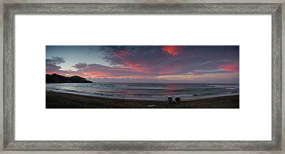 Sayulita Sunset Framed Print by Chuck Parsons