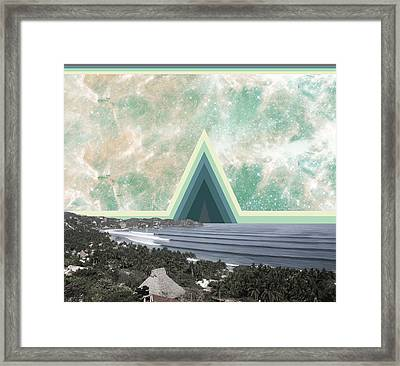 Sayulita Swell Green Pyramid  Framed Print by Lori Menna