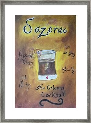 Sazerac Framed Print by Marian Hebert