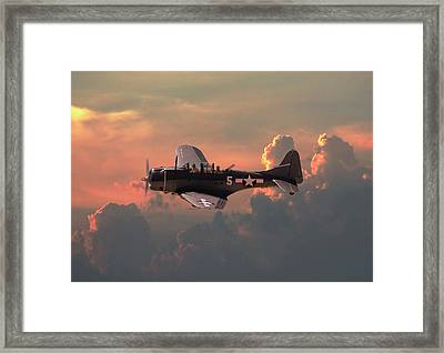 Framed Print featuring the digital art  Sbd - Dauntless by Pat Speirs