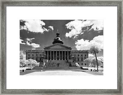 Sc State House - Ir Framed Print