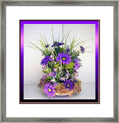 Scabiosa Caucasica Framed Print by HollyWood Creation By linda zanini