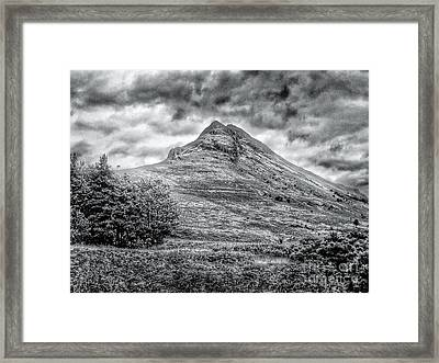 Scafell Pike In Greyscale Framed Print