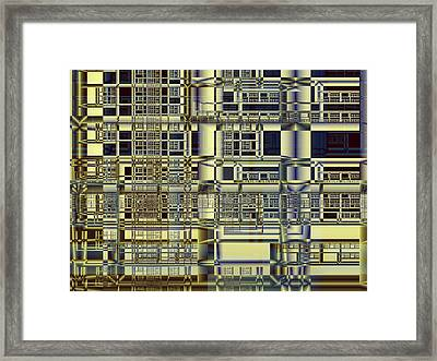 Framed Print featuring the digital art Scaffolds by Richard Ortolano