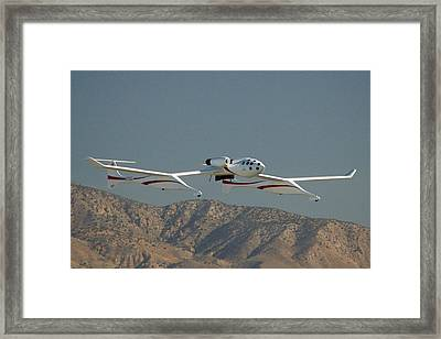Scaled Composites White Knight Framed Print by Brian Lockett