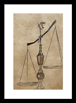 Scales Of Justice Framed Prints