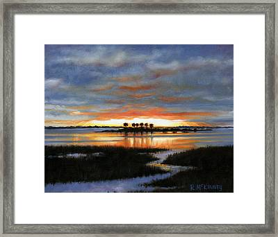 Scallop Country Framed Print by Rick McKinney