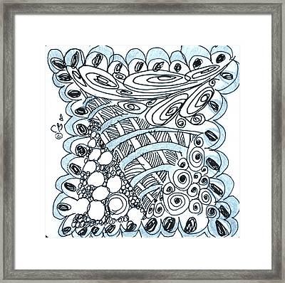 Scallops Framed Print