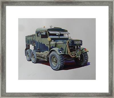 Scammell Pioneer Wrecker. Framed Print by Mike  Jeffries
