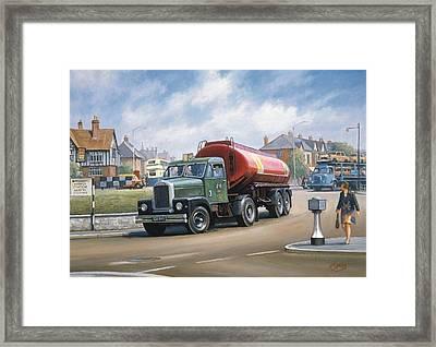 Scammell Tanker. Framed Print