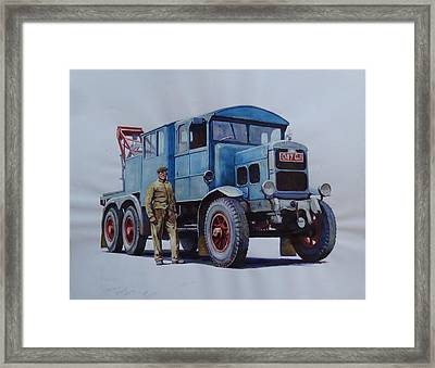 Scammell Wrecker. Framed Print by Mike Jeffries
