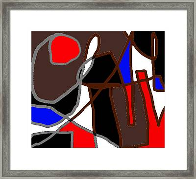 Scandal In Bohemia Original Abstract Expressionism Art Painting Framed Print