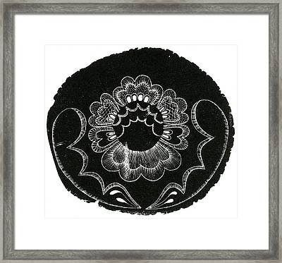 Scandinavian Folk Embroidery Framed Print by Bella Larsson