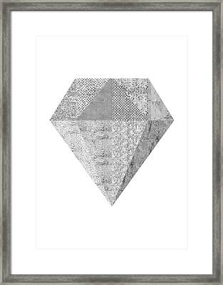Scandinavian Silver Diamond Framed Print by Ugur Sarac