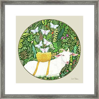 Scapegoat Button Framed Print by Lise Winne