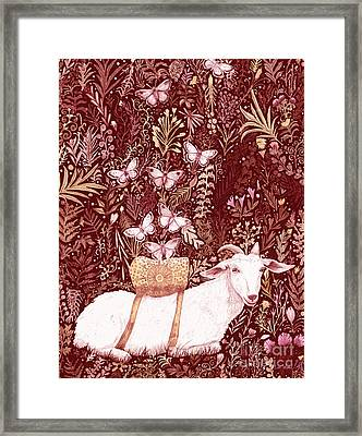 Framed Print featuring the digital art Scapegoat Healing Tapestry Print by Lise Winne