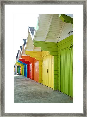 Scarborough Beach Huts Framed Print