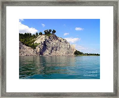 Scarborough Bluffs-lake View Framed Print by Susan  Dimitrakopoulos