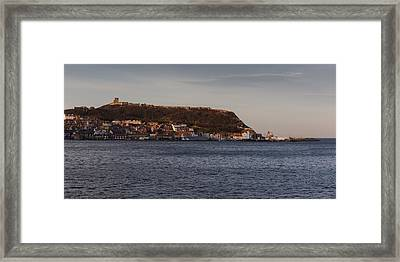 Framed Print featuring the photograph Scarborough Castle by Paul Indigo