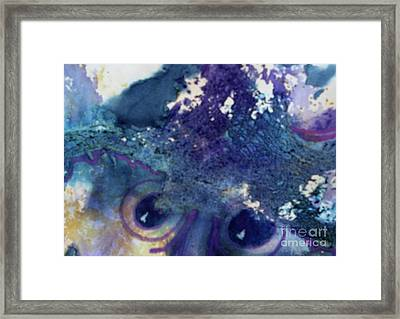 Framed Print featuring the painting Scarecrow Eyes by Kathy Braud