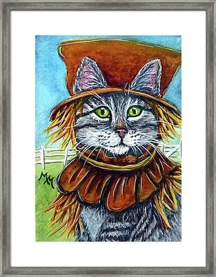 Scarecrow Tabby Framed Print