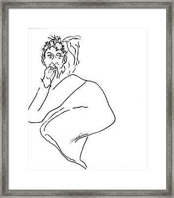 Scaredy Cat Framed Print