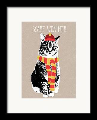 Tabby Cat Framed Prints