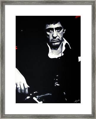 Scarface Moody Framed Print