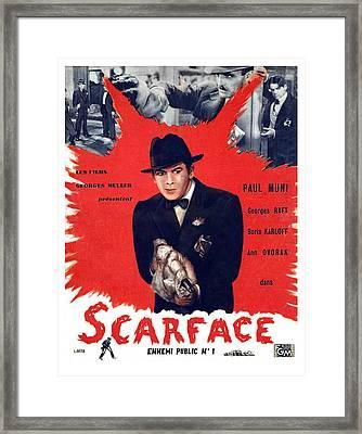 Scarface, Paul Muni, 1932 Framed Print by Everett