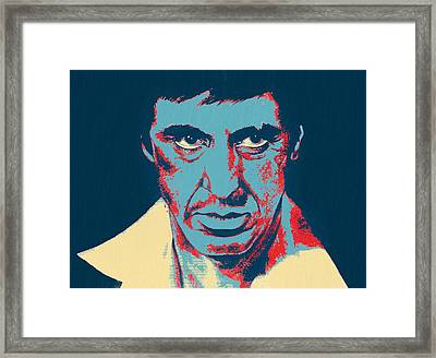 Scarface Pop Art Framed Print by Dan Sproul