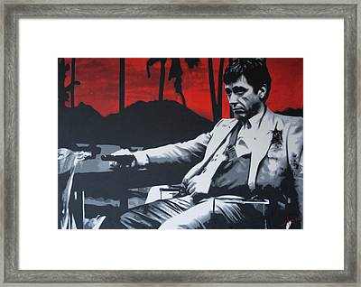 Scarface - Sunset 2013 Framed Print by Luis Ludzska