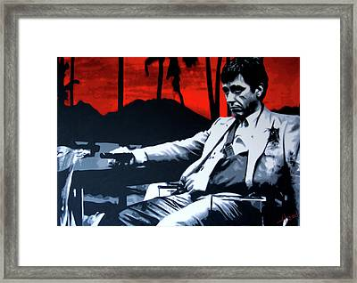 Scarface - Sunset Framed Print