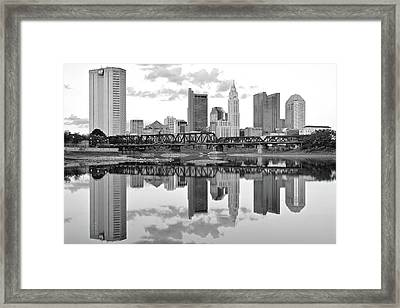 Framed Print featuring the photograph Scarlet And Columbus Gray by Frozen in Time Fine Art Photography