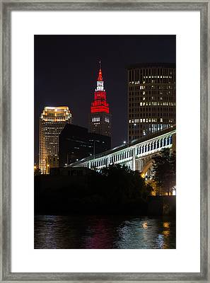 Scarlet And Gray Framed Print
