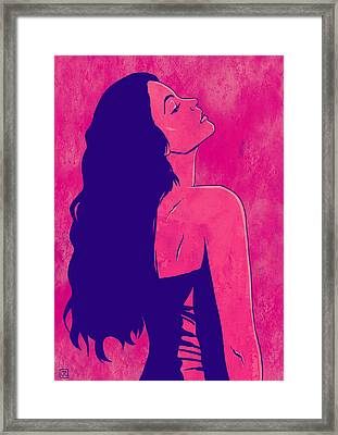 Framed Print featuring the drawing Scarlet by Giuseppe Cristiano