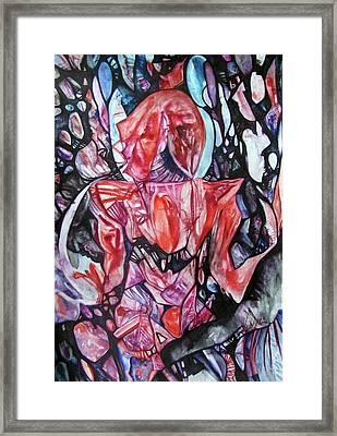 Scarlet Knight Framed Print
