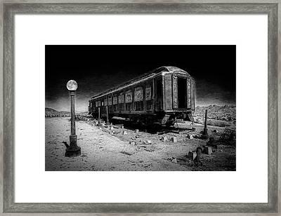 Scarlet Lady Moonlit Night Framed Print